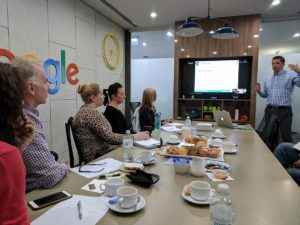 Alexei speaking at YEWS Google Partnership Conference