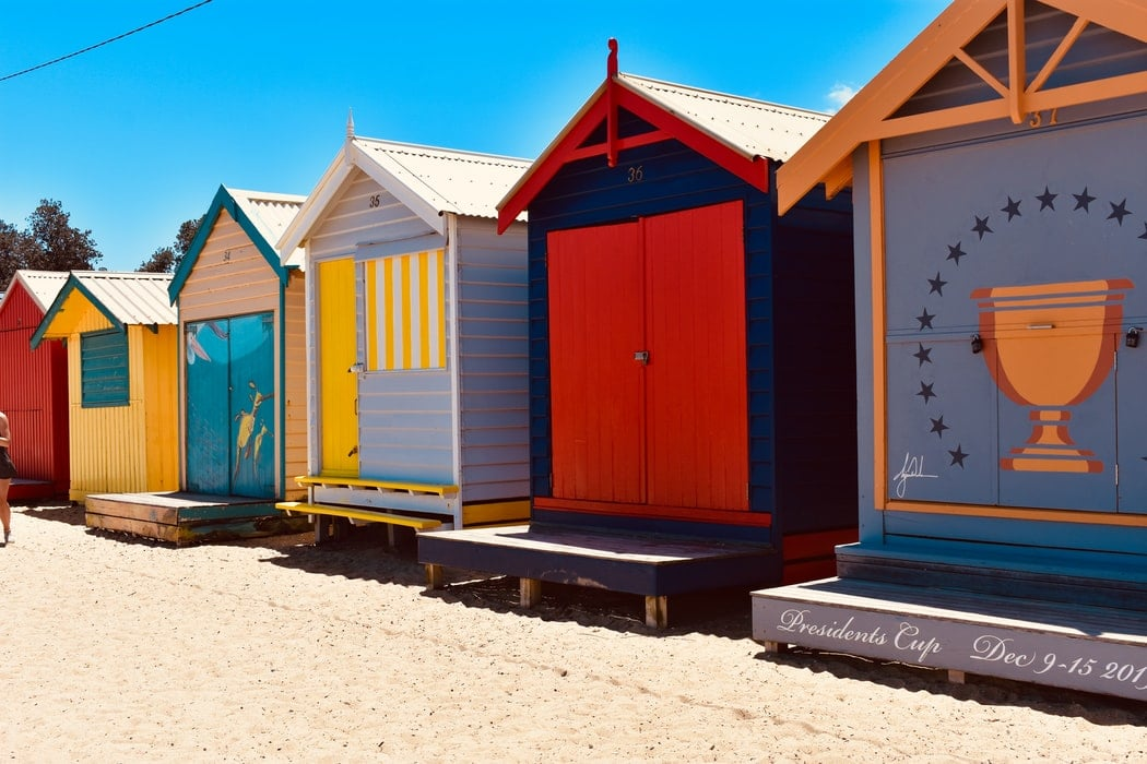 Victoria's eased restrictions image of mornington beach huts